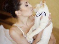 猫,女性と猫